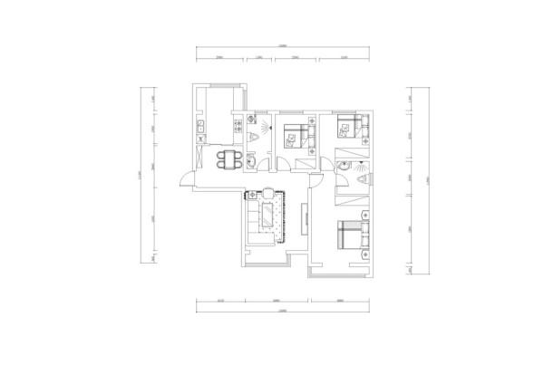 有独立的餐厅空间,客厅空间充足,有阳台。主卧室空间充足有阳台,还有独立的卫生间,里面还包括一个次卧,厨房空间充足有独立的阳台,不足的地方客厅电视背景墙不完整,次卫生间空间不太够用。