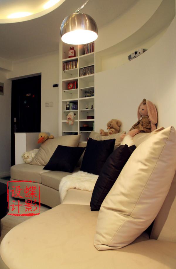型圆形客厅圆形吊顶圆形沙发旧房改造北京设计室内设计蝶影设计客