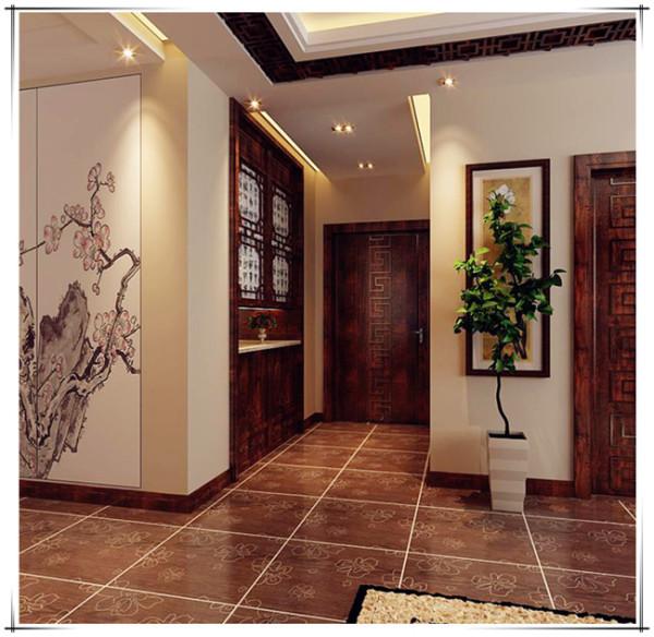 方林设计 方林大宅 玄关图片来自方林装饰在165平新世界中式风格的