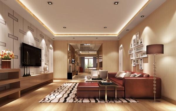 现代家居的沙发多采用素雅的色彩和图案,所以沙发靠垫尽量选择调节整个室内空间的气氛,