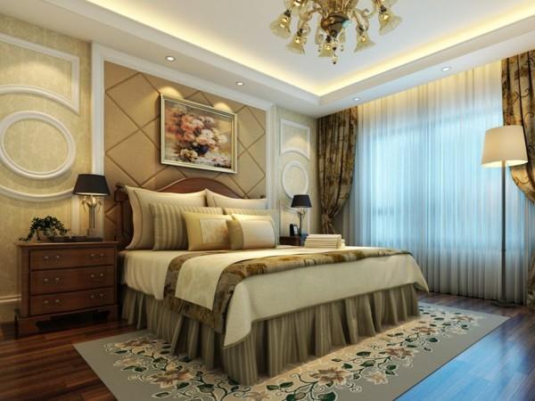 锦城世家123.71㎡简欧风格卧室实景图