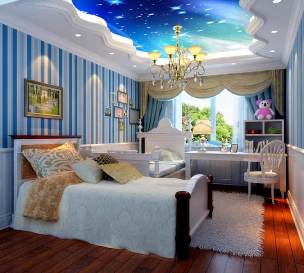 世茂锦绣长江装修案例/220平典雅欧式装修设计-儿童房设计
