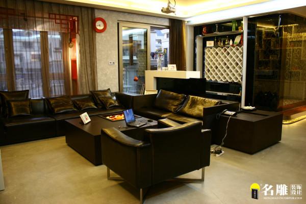 名雕装饰设计--香瑞园--现代简约-客厅:80后简约温馨空间