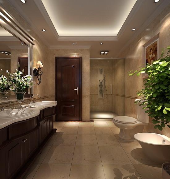 别墅 中式 新古典 别墅装修 卫生间图片来自天津尚层装饰张倩在天津图片