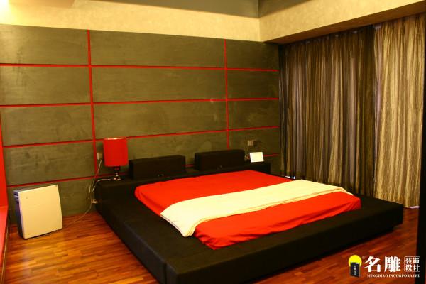 名雕装饰设计--香瑞园--现代简约-主卧室:红色激情个性空间