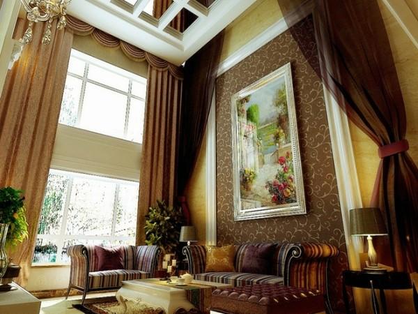 跃层客厅装修设计客厅沙发墙装修效果图展示