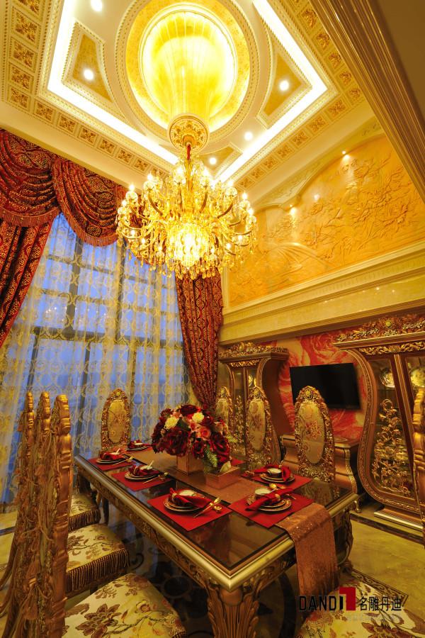 名雕丹迪设计--招商海月别墅--欧式奢华餐厅墙面装饰