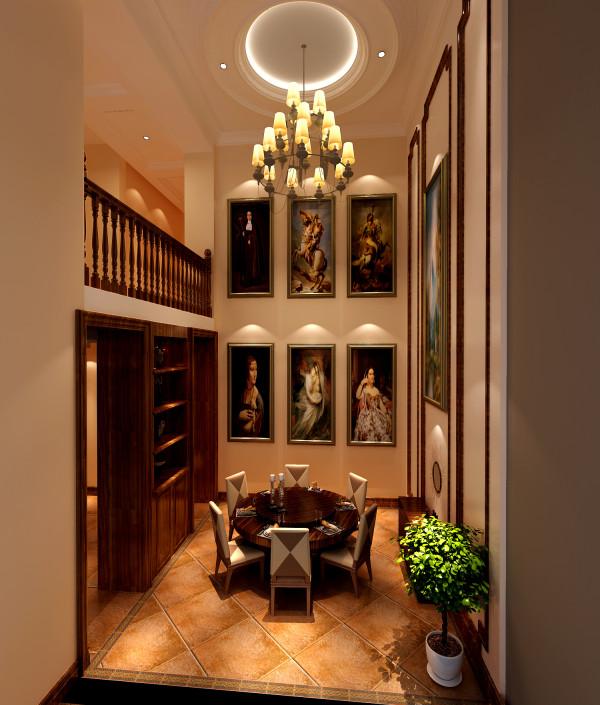 玄关的设计在保持安静私密的同时,让您步入客厅时有一种豁然开朗的感觉,活动家具的选用极具心思,弧线勾勒的沙发,雕花电视柜,华丽灯饰等都渗透着浓浓的艺术影子,经过设计师精心的配搭,呈现丰富的视觉效果。