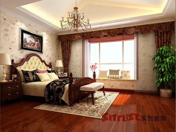 成都实创装饰—整体家装—古典欧式风格—卧室装修效果图