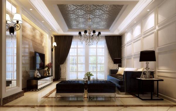 圣堤亚纳120平简欧风格装修设计-卧室效果图