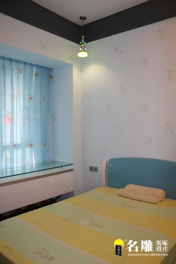 名雕装饰设计--香瑞园--现代简约-儿童房:蓝色梦幻空间