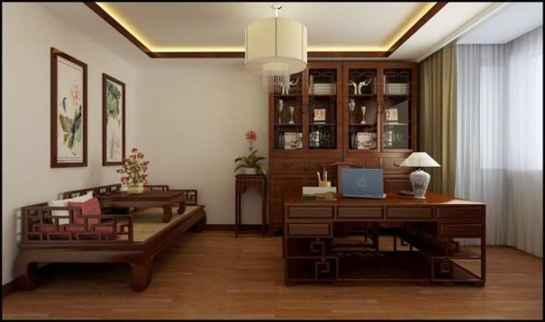 华林国际中式风格书房装修设计效果图展示