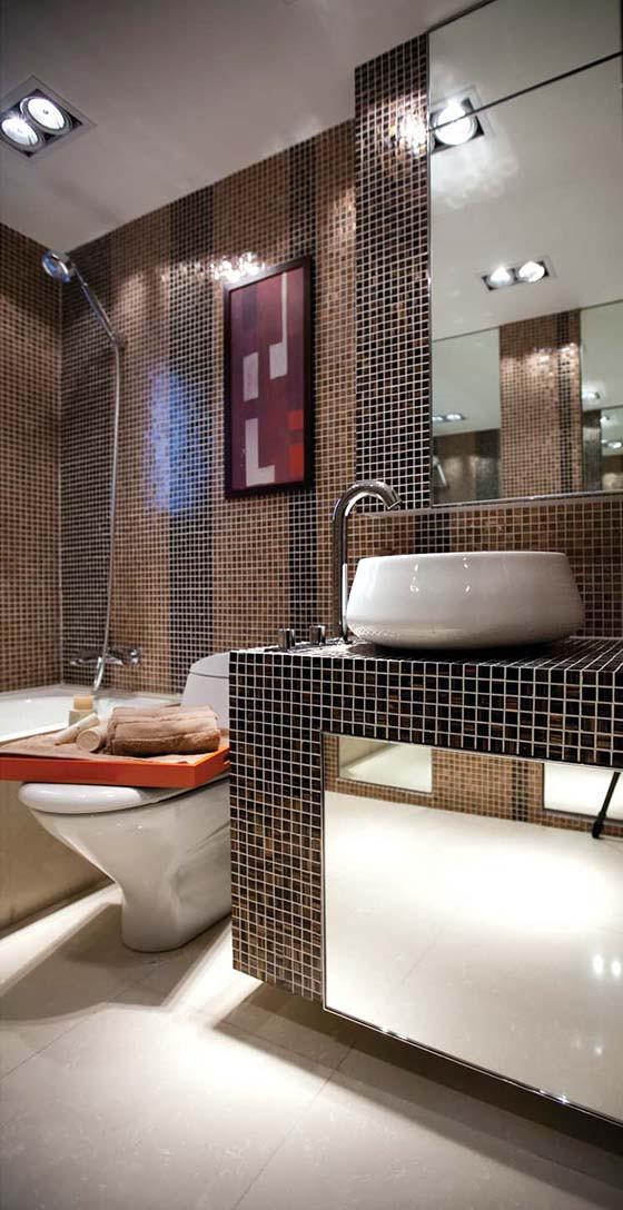 正商新蓝钻、两居室、装修设计图纸【卫生间设计图】