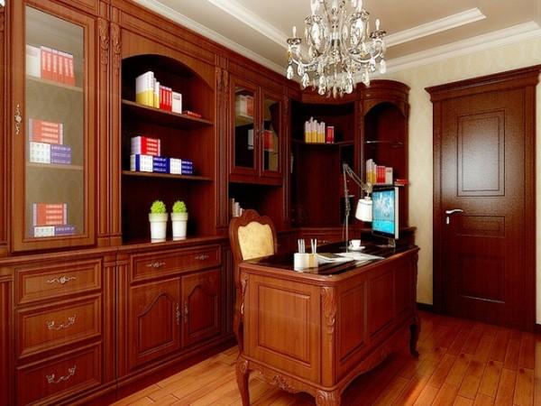 发源小区200平米欧式装修设计书房效果图展示