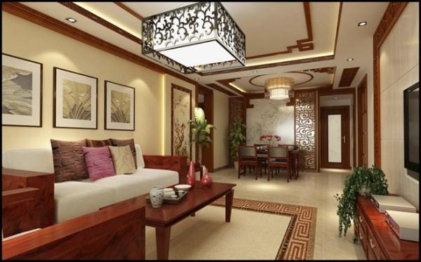 华林国际中式风格装修设计效果图展示