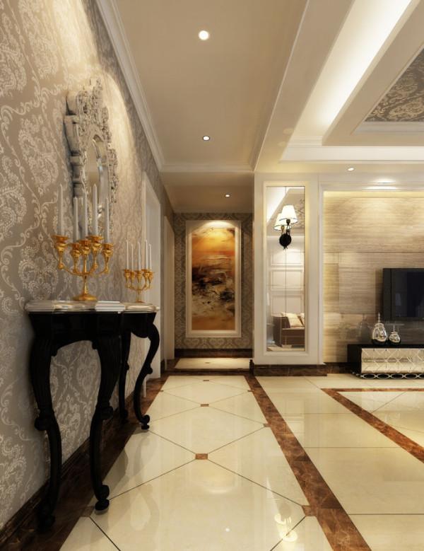 圣堤亚纳120平简欧风格装修设计-玄关效果图