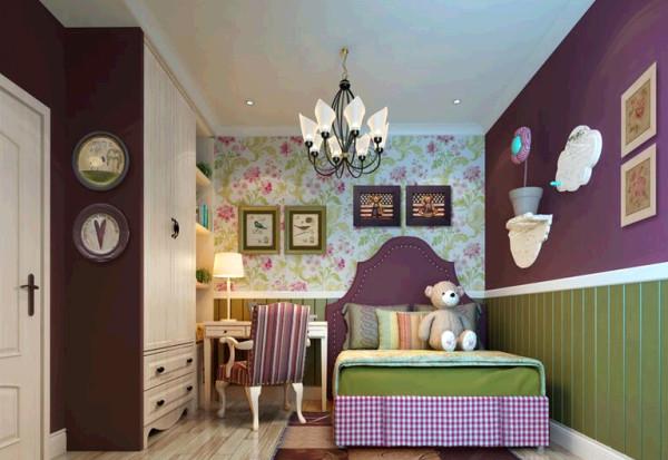 瀚海泰苑欧美风格装修设计-美式儿童房效果图