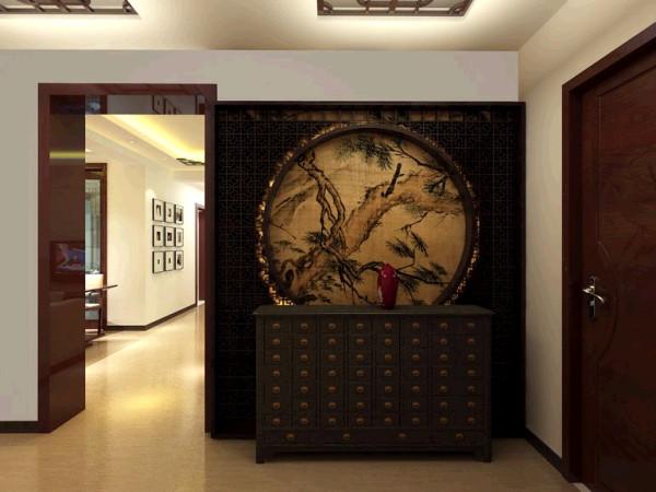 瀚海泰苑130平中式风格装修设计效果图-中式风格的典型装饰