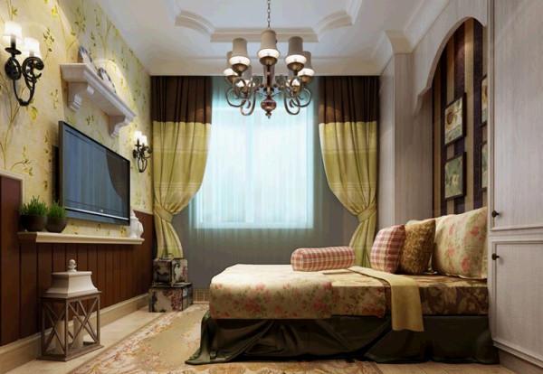 瀚海泰苑欧美风格装修设计-卧室效果图