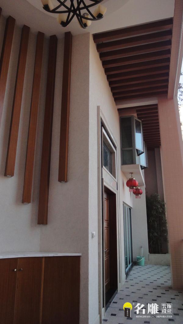 名雕装饰设计-公园大地三居室—现代风格入户阳台