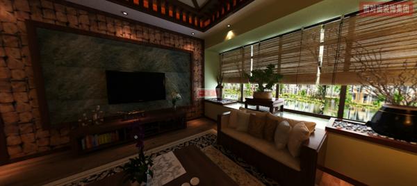 东南亚风情的120平方米三房二厅二卫360度全景视频装修效果图 风格:东南亚风情 户型:三房二厅二卫 本案例:材质质感凹凸效果比较突出,延续着东南亚文化特色以外,增加了一些现代人对生活追求向往的设计元素。
