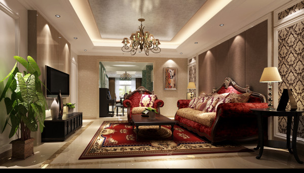 客厅颜色暖而透亮