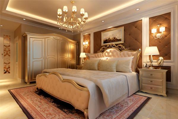 设计理念:空间看起来赋予韵律感且大方典雅,温暖的灯光为整个空间带来了柔美的气质,给人以开放、宽容的非凡气度,整体营造出一种华丽、高贵、温馨的感觉 亮点:香槟色和银灰色的配饰衬托出古典家具的高贵与优雅
