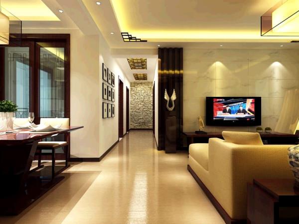 瀚海泰苑130平中式风格装修设计效果图-客厅效果图,电视背景墙