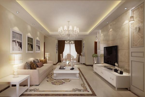 正商新蓝钻、三居室、简约风格、设计装修、效果图【客厅设计图】