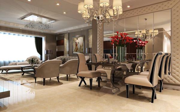 餐厅的空间讲究合理话布局,给了主人们更充裕的自由活动空间,搭配绿植,家庭氛围更加愉悦。