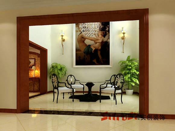 成都实创装饰—整体家装—古典欧式风格—阳台装修效果图