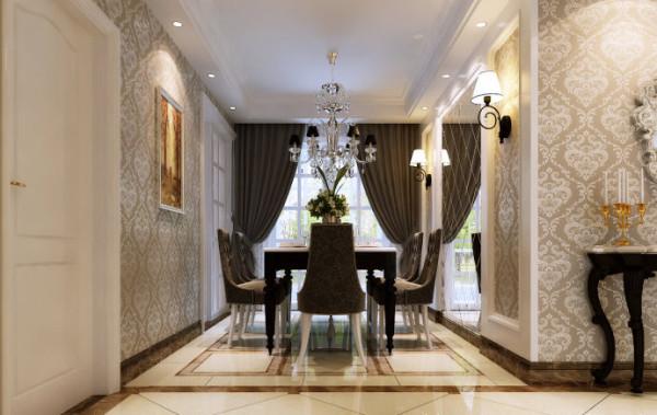 圣堤亚纳120平简欧风格装修设计-餐厅效果图
