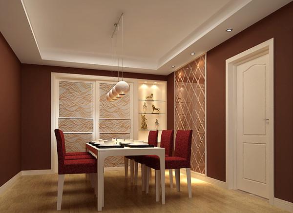 华府名邸-162平米现代简约装修设计-餐厅效果图