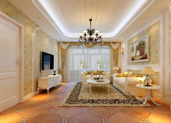 客厅 简洁明快优雅温馨 设计理念:客厅作为待客区域,一般要求简洁明快,同时装修较其它空间要更明快光鲜。亮点:充满韵味的整体色调搭配电视背景墙独特的造型,整体效果和谐、高雅
