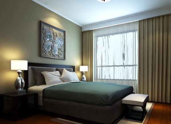 华府名邸-162平米现代简约装修设计-卧室效果图