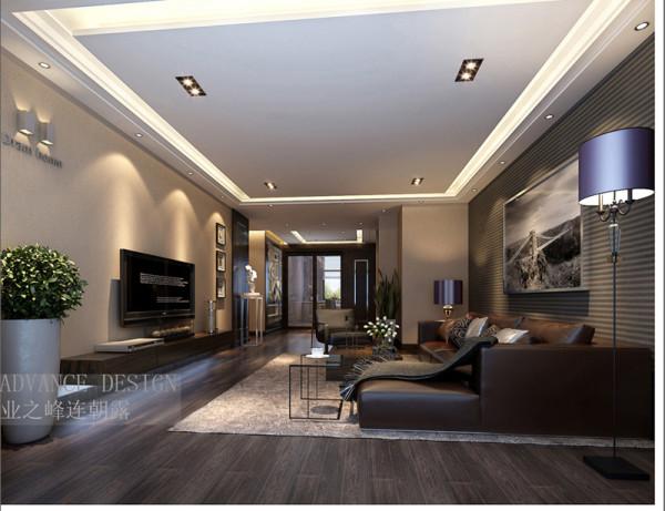 正商新蓝钻三居室简约风格装修效果图【客厅设计效果图