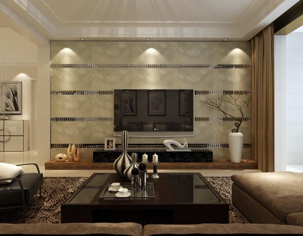 电视墙用的是大理石上墙,上看去高端、大气、上档次。