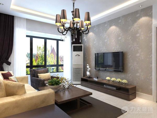 由于整体颜色单一整个客厅满铺具有跳跃式的壁纸。其次是卧室空间。