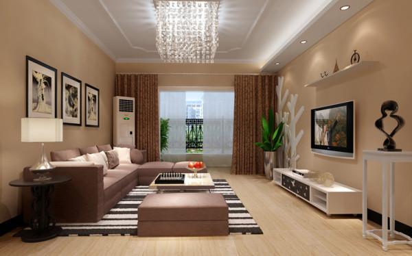 北郡-144平米现代简约风格-客厅效果图