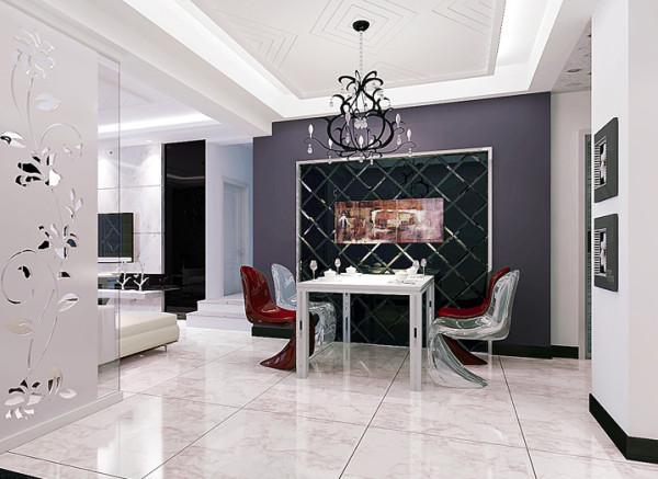 国际城-106平米现代简约装修-餐厅效果图