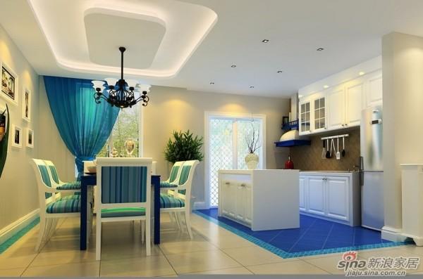 成都实创装饰—整体家装—120平米三居室—地中海风格—厨房装修效果图