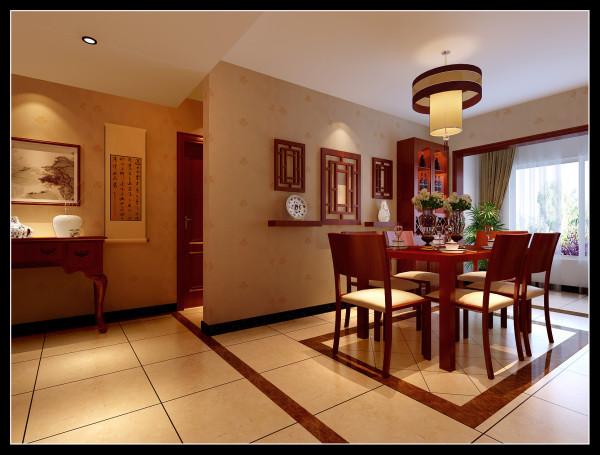 华邦世贸城|典型的现代中式风格餐厅装修效果图