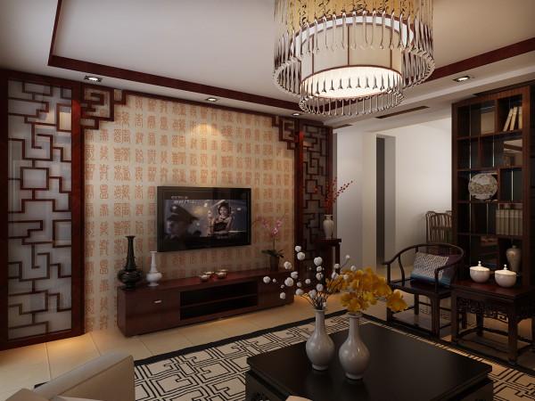中式风格在空间设计上讲究层次感,用到许多隔断、屏风, 用实木做出结实的框架,以固定支架,中间用棂子雕花,做成古朴的图案。