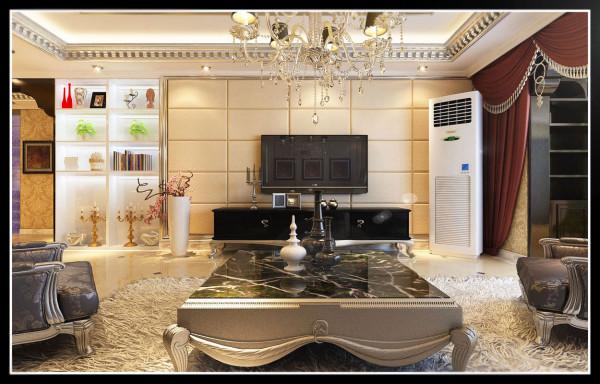 国仕山-178平米欧式装修设计-客厅效果图