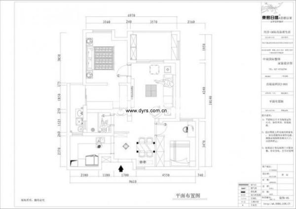 该户型的设计难点就在于厨房、附送阳台、以及卫生间的三者取舍方面。