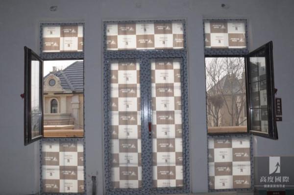 门窗的前期成品保护,大气....