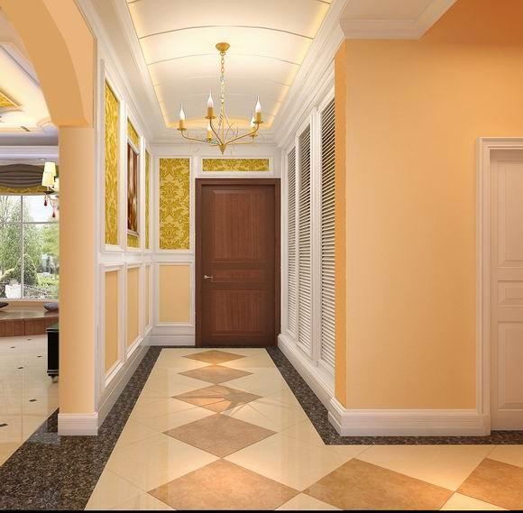 成都实创装饰—整体家装—400平米别墅—别墅装修—装修参考—走廊装修效果图