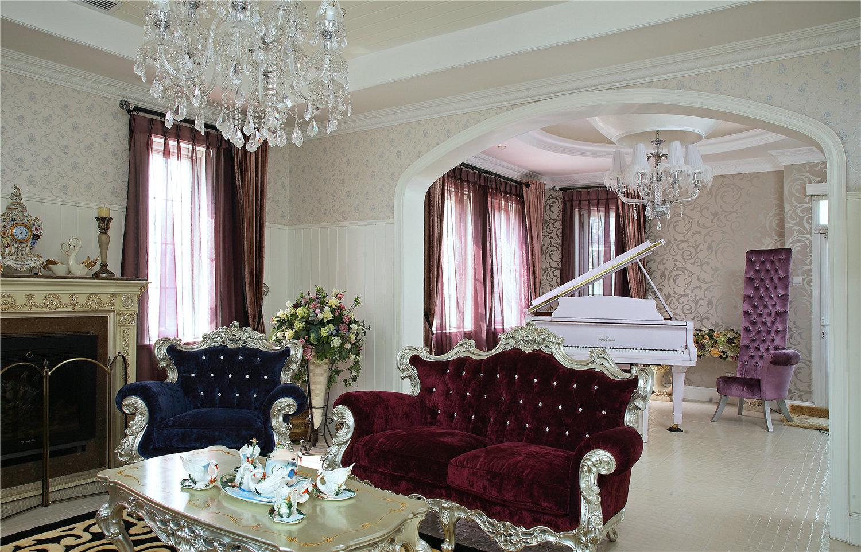 别墅英式古典大户型豪宅客厅图片