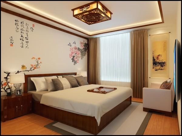 郑州实创装饰-正商新蓝钻138平三居室-卧室效果图