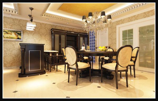 国仕山-178平米欧式装修设计-餐厅效果图